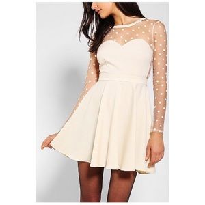 Urban Outfitters • ivory fit & flare holiday dress